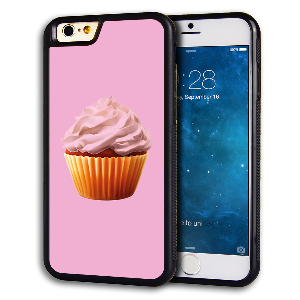 the latest ce60a 7ecb0 Rugged Rubber Pink Cupcake Monogram Iphone 6 Plus Hard Case, Protective  Skin Cover For IPhone 6 Plus (5.5'') #7