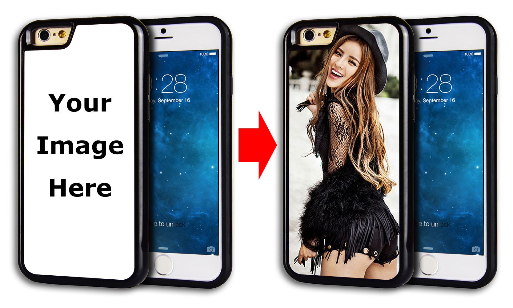 Rugged rubber dual layer hybrid hard case skin cover for iPhone 6 with  customized photo personalized iphone 6 cases - personalized gifts for men  and women 2f5b9d62a4