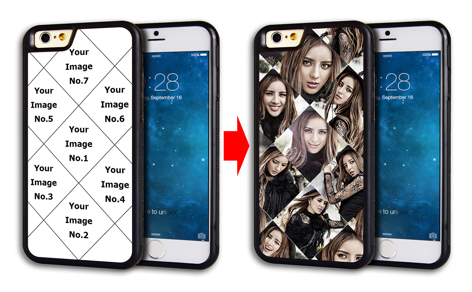 Rugged Rubber IPhone 6 Plus Case Skin Cover With Customized Collage ... a851516650